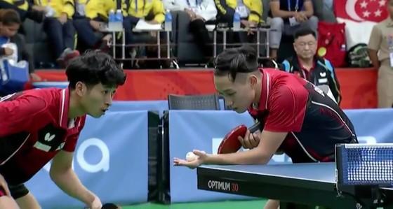 Bóng bàn: Đánh bại Singapore, Anh Tú/Tuấn Anh đoạt HCV đôi nam ảnh 1
