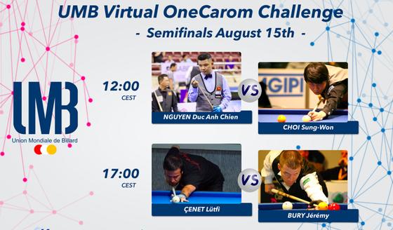 Nguyễn Đức Anh Chiến thẳng tiến vào bán kết giải Billiards trực tuyến thế giới UMB  ảnh 2