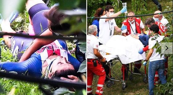 Hình ảnh Chloe Dygert bị tai nạn.