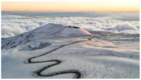 Đường lên đỉnh núi lửa Etna.