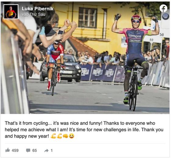 Nhà vô địch Slovenia Luka Pibernik tuyên bố rời đường đua ở tuổi 27 ảnh 1