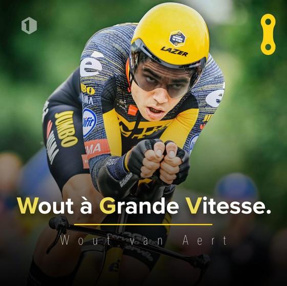 Wout Van Aert thắng chặng cá nhân tính giờ với  tốc độ trung bình 51,5 km/giờ ảnh 1