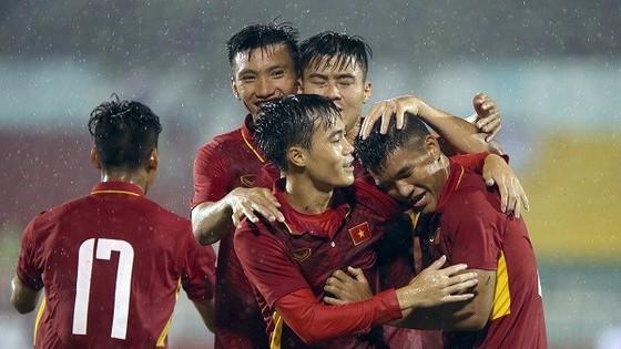 Niềm vui của các cầu thủ Việt Nam