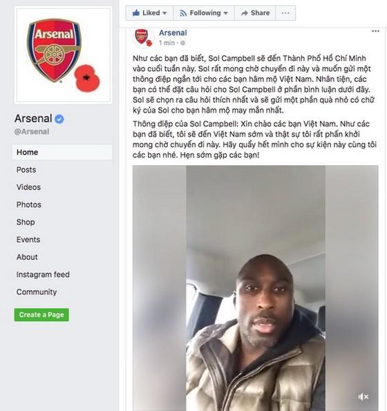 Sol Cambell – Đại sứ CLB Arsenal đến Việt Nam  ảnh 1