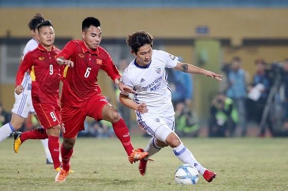 U23 Việt Nam trong trận giao hữu cùng Ulsan Hyundai mới đây. Ảnh: MINH HOÀNG