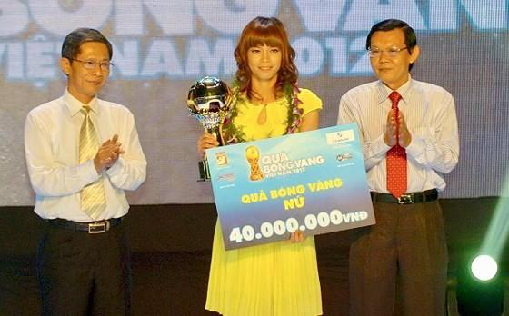Thủ môn Kiều Trinh đã 3 lần vinh dự được bầu chọn Quả bóng vàng Việt Nam. Ảnh: NGUYỄN NHÂN