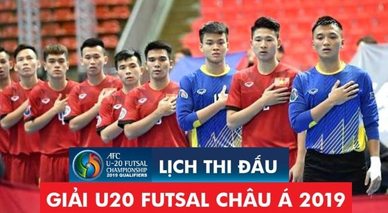 Đội U20 futsal Việt Nam chuẩn bị cho giải châu Á. (Ảnh: Anh Trần, Hữu Vi)