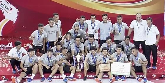 Các nhà vô địch futsal Việt Nam 2018, Thái Sơn Nam. Ảnh: ANH TRẦN
