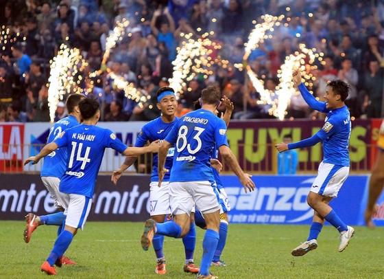 Đội Than Quảng Ninh đã có trận thắng đầu tiên. Ảnh: MINH HOÀNG