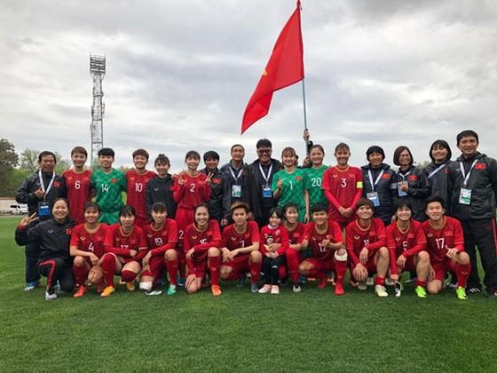 Đội tuyển nữ Việt Nam giành vé vào vòng loại thứ 3 Olympic 2020. Ảnh: Đoàn Nhật
