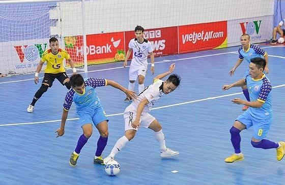 Thái Sơn Nam trong trận thắng quan trọng trước Sahako ở lượt đi. Ảnh: Anh Trần