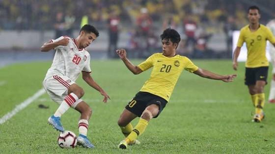 ĐT Malaysia trong trận thua 1-2 trước UAE trên sân nhà. Ảnh: AFC
