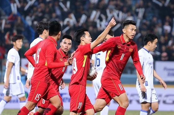 ĐT Việt Nam có tuổi trung bình trẻ nhất bảng G. Ảnh: Minh Hoàng