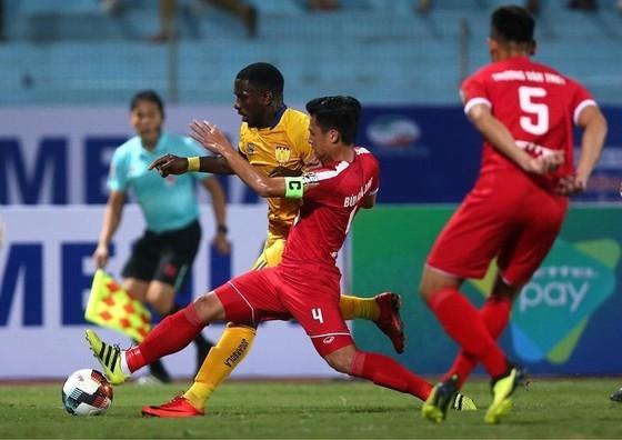 Viettel đã thắng Thanh Hóa 2-1 ở trận lượt đi. Ảnh: Minh Hoàng