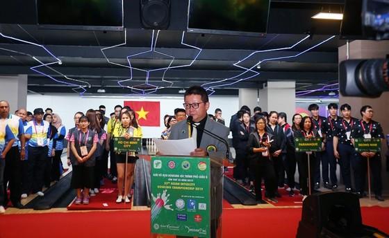 Đại diện Liên đoàn Bowling châu Á phát biểu tại lễ khai mạc. Ảnh: Thanh Đình