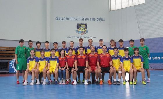ĐT futsal nữ Việt Nam. Ảnh: Thanh Đình