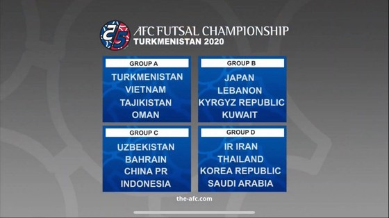 ĐT Futsal Việt Nam gặp Tajikistan ở trận ra quân giải châu Á 2020 ảnh 2