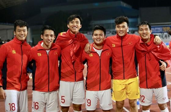 Các cầu thủ Hà Nội FC có mùa bóng đầy thành công trong năm 2019. Ảnh: HNFC