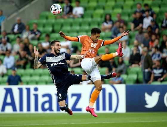Chiangrai trong trận thua Melbourne 0-1. Ảnh: Fox Sport Asia)