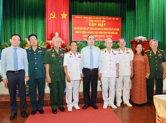 Bí thư Thành ủy TPHCM Nguyễn Thiện Nhân gặp mặt cựu tướng lĩnh quân đội  ảnh 1