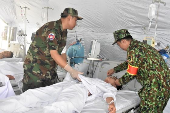 Việt Nam – Campuchia diễn tập cứu hộ, cứu nạn khu vực biên giới đất liền   ảnh 14