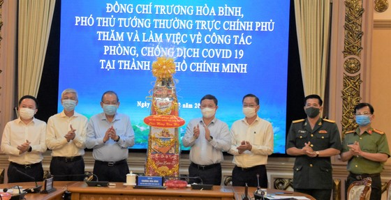 Phó Thủ tướng Thường trực Trương Hoà Bình: Chúc TPHCM sớm thắng dịch Covid-19 ảnh 3