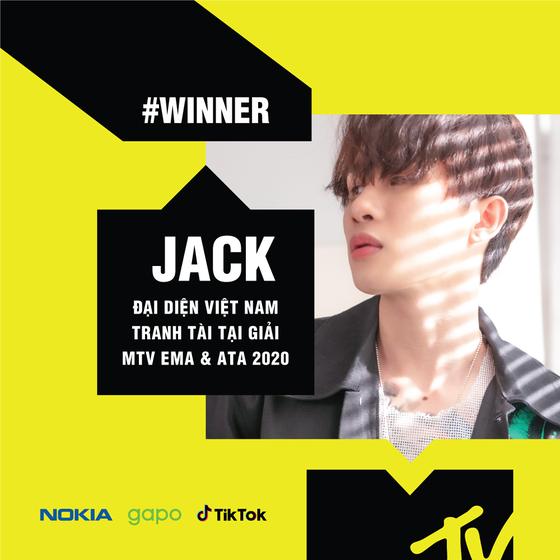 Binz và Jack là đại diện Việt Nam tranh giải MTV EMA 2020 và ATA 2020 ảnh 1