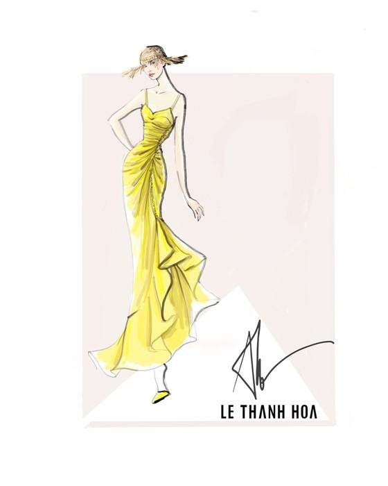 Hoa hậu Khánh Vân, vợ chồng Đông Nhi, Ông Cao Thắng cùng xuất hiện tại show thời trang của NTK Lê Thanh Hoà ảnh 3
