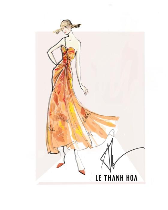 Hoa hậu Khánh Vân, vợ chồng Đông Nhi, Ông Cao Thắng cùng xuất hiện tại show thời trang của NTK Lê Thanh Hoà ảnh 6