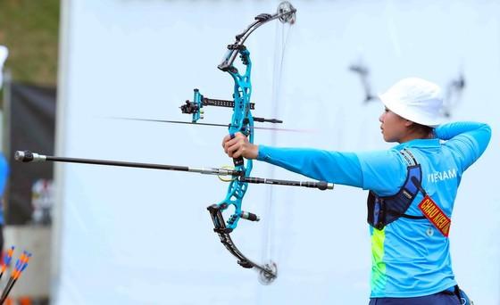 Châu Thị Kiều Oanh đoạt được chiếc huy chương bạc SEA Games đầu tiên trong sự nghiệp. Ảnh: DŨNG PHƯƠNG
