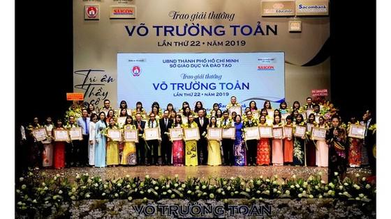 TPHCM vinh danh 50 cán bộ quản lý, giáo viên đạt giải thưởng Võ Trường Toản lần thứ 23 năm 2020 ảnh 2