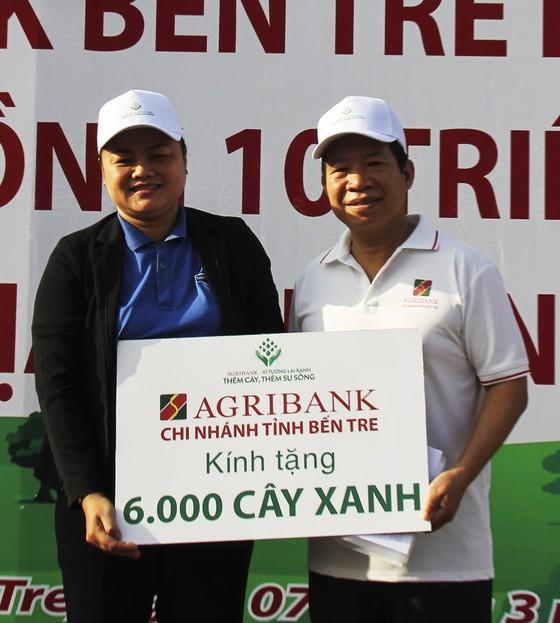 Agribank Bến Tre phát động trồng 6.000 cây điệp vàng ảnh 1