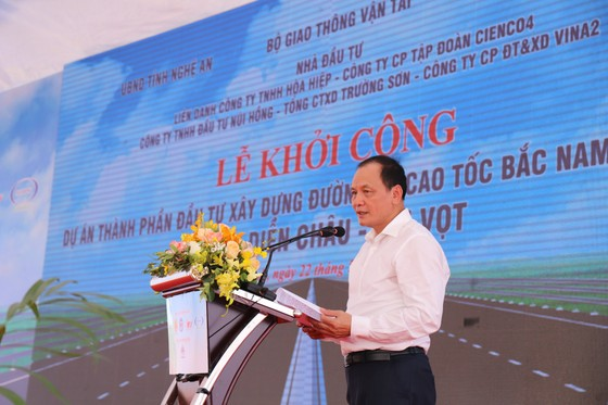 Khởi công dự án cao tốc Bắc Nam đoạn Diễn Châu - Bãi Vọt ảnh 2