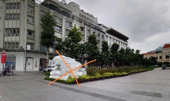 Tượng voi đá đặt ở phố đi bộ Nguyễn Huệ, TPHCM là không có thật ảnh 1