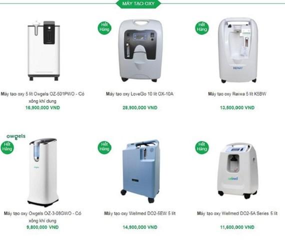 Tâm lý lo lắng khiến nhiều người đang đổ xô đi mua máy thở, máy tạo oxy cất trữ.