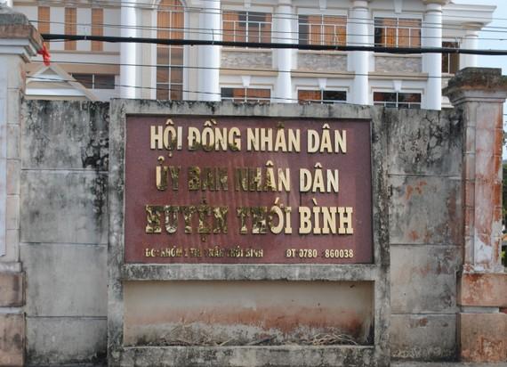 Trụ sở UBND huyện Thới Bình