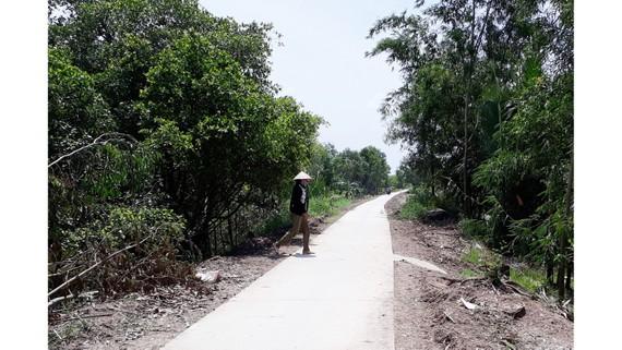 Một tuyến lộ giao thông nông thôn trên địa bàn huyện U Minh
