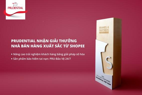Prudential nhận giải thưởng nhà bán hàng xuất sắc với sản phẩm PRU-Bảo Vệ 24/7