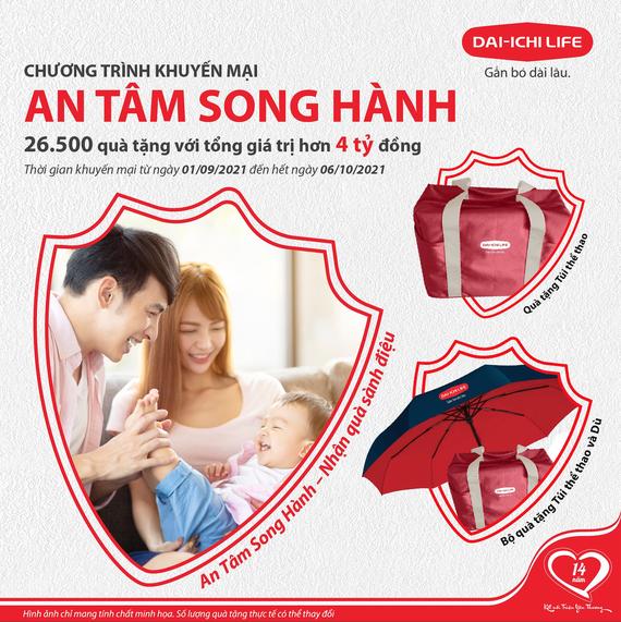 """Khách hàng có cơ hội nhận quà sành điệu khi tham gia sản phẩm """"An Tâm Song Hành"""" của Dai-ichi Life"""