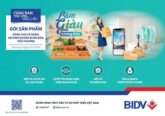 BIDV ra mắt gói sản phẩm toàn diện dành riêng cho khách hàng tiểu thương