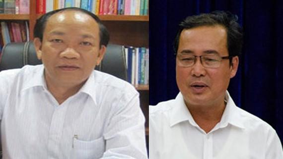 Ông Đinh Văn Thu và ông Huỳnh Khánh Toàn (phải)