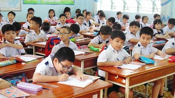 Học sinh tiểu học trong một giờ lên lớp. Ảnh minh họa.