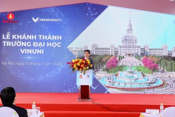 Phó Thủ tướng Vũ Đức Đam phát biểu tại lễ khánh thành