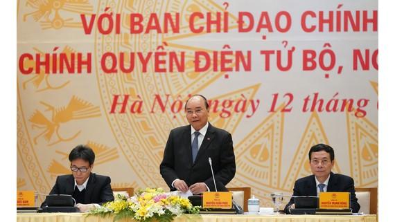 Thủ tướng chủ trì hội nghị Ủy ban Quốc gia về Chính phủ điện tử
