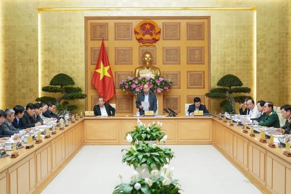 Thường trực Chính phủ họp chiều 24-2. Ảnh: VGP