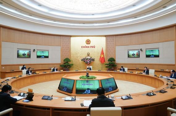 Thường trưc Chính phủ họp chiều 6-4, ảnh VGP