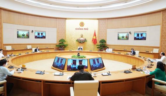 Thường trực Chính phủ họp chiều 20-4-2020. Ảnh: VIẾT CHUNG