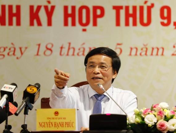 Tổng Thư ký Quốc hội Nguyễn Hạnh Phúc. Ảnh: QUANG PHÚC