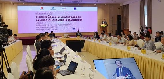 """Hội nghị trực tuyến """"Giới thiệu Cổng Dịch vụ công Quốc gia và các lợi ích dành cho doanh nghiệp"""