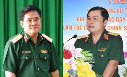Thiếu tướng Nguyễn Xuân Dắt và Thiếu tướng Đỗ Văn Bảnh
